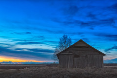 Dramatic Evening Sky (k009034) Tags: old sunset sky sun house building tree nature night clouds barn rural finland evening countryside wooden dramatic fields birch agriculture dramaticsky springtime barnhouse oulainen 500px teamcanon matkaniva