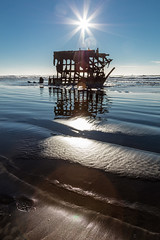 2016-01-10 - Peter Iredale Shipwreck-6 (www.bazpics.com) Tags: ocean sea usa beach water oregon america skeleton sand ship pacific or wave peter shipwreck frame hull wreck iredale