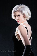 DSC_9489a wm web (Susan Day-Jeschke) Tags: blue red portrait people black pose hair model glamour eyes lashes makeup posing lips pearls hollywood redlips gown modelling platinum oldhollywood platinumhari