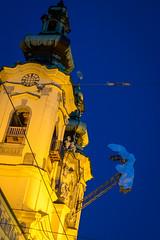 Linz @ night (jochenlorenz_photografic) Tags: city night contrast linz lights austria colorful fuji streetphotography explore nightlife bluehour capture streetview cityview upperaustria nightsession capturethelight stadtlinz austrianblogger fujixt10 fujixsytem