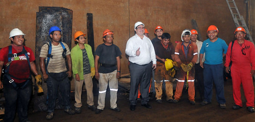 El gobernador Javier Duarte de Ochoa recorre obras del Túnel Sumergido en Coatzacoalcos