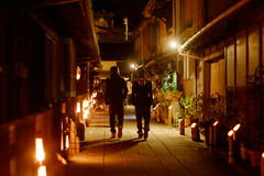 (  / Yorozuna) Tags: road light man festival japan night alley backalley nightscape hiroshima human alleyway nightview    takehara  bamboolamp backshot                             groupsoftraditionalbuildings   importantpreservationdistrictofhistoricbuildings pentaxautotakumar55mmf18 syoukeinomichi
