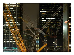Chantier de Ground Zero  New York en 2010 (Claude Robillard) Tags: newyork night construction cranes nuit groundzero grues