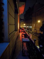 Balcony Covered in Snow (tarmo888) Tags: snow vertical vanishingpoint nightshot lviv ukraine lg special smartphone lumi lvov android   lww lemberg  lwow leopolis ukrayina photoimage  sooc  geosetter  geotaggedphoto foto nexus5 year2016
