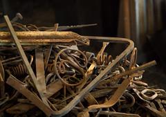 Scrap pile (docoverachiever) Tags: metal lowlight junk iron scrap assortment accumulation