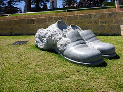 The First Experience of a Poet #3 (3rd Series) - Hyung-Taek Chang (Figgles1) Tags: sea sculpture shoes first experience poet series cottesloe sculpturebythesea sculptures 3rd 2016 p1010824 thefirstexperienceofapoet33rdseries hyungtaekchang