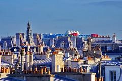 Paris Avril 2016 - 160 les toits dans le Vime arrondissement, le Centre Pompidou et l'Htel de Ville (paspog) Tags: paris france spring roofs april avril centrepompidou printemps beaubourg frhling hteldeville toits 2016 decken toitsdeparis centrebeaubourg
