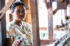 Weaver in the Light 5129 (Ursula in Aus) Tags: portrait burma myanmar inlelake weaver burmese environmentalportrait karlgroblphototour