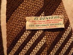 Handwoven El Denver by Los Wigwam Weavers Label (Michael A2012) Tags: los el denver necktie wigwam handwoven