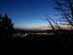 Pr do Sol (Elleen Milk) Tags: sunset sky sun moon mountains sol nature natureza paisagem prdosol lua montanhas entardecer cachevalley