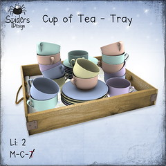 Cup of Tea - Tray (Spinnetje Jewell) Tags: secondlife tray teacup decor spidersdesign