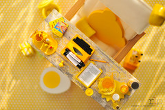 Re-ment Addicts Colour Challenge - Yellow Desk (Random Life Project) Tags: ikea yellow toys miniatures mimo rement vitra japanesetoy colorchallenge megahouse colourchallenge