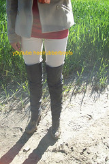 otk thigh boots (heelrubberboots) Tags: leather high mud boots thigh heels stiefel otk