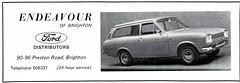 1968 ADVERT - ENDEAVOUR FORD PRESTON ROAD BRIGHTON - FORD ESCORT MK1 ESTATE (Midlands Vehicle Photographer.) Tags: road ford brighton estate advert preston 1968 escort endeavour mk1
