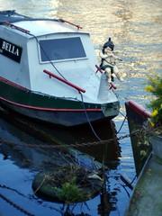 Ship of Putti - 3 (the justified sinner) Tags: wood netherlands amsterdam boat canal md minolta 14 panasonic cherub bella 50 vena hideous putti rokkor gx7 justifiedsinner