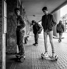 Threesome (marikoen) Tags: street blackandwhite streetphotography mechelen