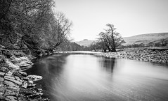 The River Tees . Dent Bank . (wayman2011) Tags: uk trees reflections rocks rivers canon5d dales pennines lightroom countydurham longexposures teesdale rivertees bwlandscapes bw110 wayman2011