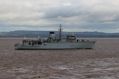 M38 HMS Atherstone passing Portishead Point 25-04-16 (Portishead Point) Tags: navel m38 minesweeper m38hmsatherstone