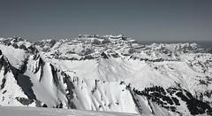 Glrnisch (alice_winkler) Tags: schnee winter bw sun snow mountains schweiz switzerland berge sonne glrnisch kantonglarus schwyzeralpen