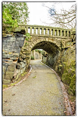 Bridged Across (mikesteph0) Tags: trees sky colour clouds scenery rocks steps historic paths archway slate parkspublicplaces