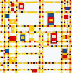 """""""BROADWAY BOOGIE WOOGIE"""", 1942 (Neoplasticism) // by Piet Mondrian (mike catalonian) Tags: abstract painting 1940s 1942 pietmondrian xxcentury century2 neoplasticism"""