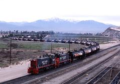 Tanked (GRNDMND) Tags: california trains sp locomotive bloomington railroads southernpacific espee emd sw1500 tanktrain westcolton