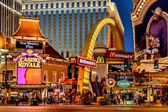 A Las Vegas Nightime Street Scene