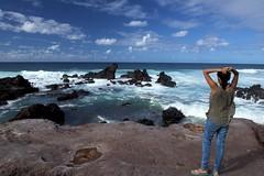 DSC2289 OMG! (najeebmahmud) Tags: park sea sky beach nature hawaii seaside rocks maui shore rockybeach paia hookipa 2470mm lavarocks seawaves d810 nikond810