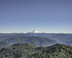 Mount Jefferson from Dome Rock (Willamette Valley Photography) Tags: blue trees sky mountain mountains green nature oregon forest landscape outside outdoors volcano day hiking horizon peak olympus hike hills summit pacificnorthwest jefferson volcanoes