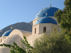 IMG_6554 (baptisteflageul) Tags: voyage travel blue sea mer white church nature volcano landscapes europe religion passages bleu santorini greece caldera beaches vulcan santorin blanc eglise grece plages