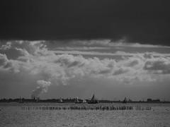 AtLanTiC. (Warmoezenier) Tags: holland clouds landscape sailing zeeland cielo vela landschap doel hoogspanning oosterschelde elektriciteit tafereel kerncentrale perceel bietenttocht