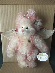 Knickerbocker ~ Heavenly Blushed (Pointe Shoes Punk Rock And Purl Pix) Tags: angel plush mohair teddybear collectible limitededition knickerbocker judyantonelli
