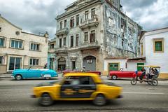 Taxi Passing (Paul Flynn (Toronto)) Tags: street classic car taxi havana cuba cuban convertable