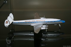 Herpa 1/500th scale Lockheed L-1049 (Victor Medlin) Tags: aircraft lockheed constellation breitling modelairplane l1049 classicairliner