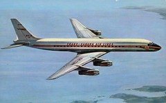 DC-8, Trans Canada Air Lines (SwellMap) Tags: architecture plane vintage advertising design pc airport 60s fifties aviation postcard jet suburbia style kitsch retro nostalgia chrome americana 50s roadside googie populuxe sixties babyboomer consumer coldwar midcentury spaceage jetset jetage atomicage