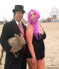 Dr. Takeshi Yamada and Seara (Coney Island Sea Rabbit) at the winter swimming event by the Coney Island Polar Bear Club at the Coney Island Beach in Brooklyn, New York on January 17 (Sun), 2015.  mermaid.  20160117Sun DSCN3478=4030pC2. Kim (searabbits23) Tags: winter ny newyork sexy celebrity art beach fashion animal brooklyn asian coneyisland japanese star yahoo costume tv google king artist dragon god cosplay manhattan wildlife famous gothic goth performance pop taxidermy cnn tuxedo bikini tophat unitednations playboy entertainer samurai genius donaldtrump mermaid amc mardigras salvadordali billclinton hillaryclinton billgates aol vangogh curiosities bing sideshow jeffkoons globalwarming takashimurakami pablopicasso steampunk damienhirst cryptozoology freakshow barackobama polarbearclub seara immortalized takeshiyamada museumofworldwonders roguetaxidermy searabbit ladygaga climategate