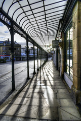 Colonnade (sidibousaid60) Tags: uk architecture buxton shadows derbyshire shops colonnade