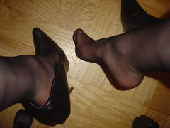 After wearing those shoes... (h_lover1984) Tags: man black feet stockings fetish training foot high toes pumps highheels bend bare extreme heels mann stocking tippy extrem strumpfhose zehen zehe strmpfe 20den verbogene