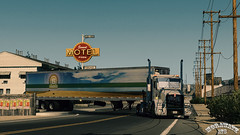 ats_00115 (ets2.morawatz) Tags: california road sun white hot west truck screenshot day desert nevada rig trailer semitruck sleeper ats kenworth t800 morawatz morawatztrucking americantrucksimulator