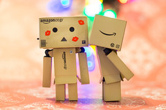 Love at First Sight (7/52) (abneysc) Tags: love toy toys kiss day bokeh lovers valentines lipstick sweetheart kissme valentinesday danbo danboard