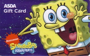 ASDA Walmart UK SpongeBob SquarePants Gift Card