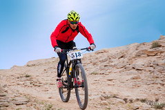Rider (Rudr Peter | Smile to the world |) Tags: people terrain storm sports rain bicycle desert suspension hill bikes hobby hike trail toyota landcruiser doha qatar riders weekendwarrior roughroad mountainbikes fulltail rudrpeter qatarbiking ridersinqatar