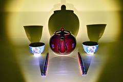 Project 366 - 2/10/2016 - 41/366 (cathy.scola) Tags: symmetry cups chopsticks teapot odc project365 project366