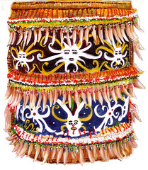 babycarrier_drawing_lr (chi.ilpleut) Tags: 2004 pencils beads asia personal native south drawings tribal east sarawak malaysia borneo watercolour hobbies sketches beaded cultural iban babycarrier oldworks