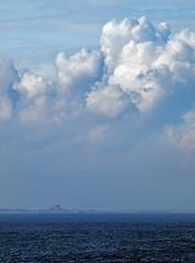 Big Sky Little Sea (Sue.Beck Smith) Tags: ocean blue sea sky clouds bamburghcastle