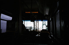 Philadelphia + Ivanhoe (Zeb Andrews) Tags: morning bus film oregon 35mm portland rangefinder commute pdx 24x36mm trimet olympusxa agfavista400 stjohnsbridge colornegative