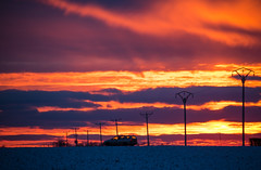 Winter Sunset (Infomastern) Tags: winter sunset sky cloud snow landscape countryside landskap moln sdersltt landsbygd solnedgnghimmel