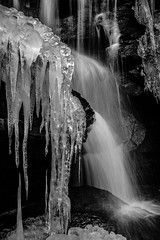 Crystal Falls III (christian.denger) Tags: white black ice photography waterfall outdoor monochrom margarethenschlucht chrisdenger elementspictures