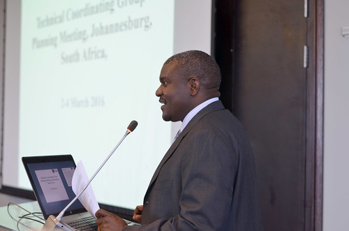 Dr. Michael J. Katende opening the meeting