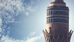 Cairo Tower (Eslam Rezo) Tags: camera new morning light people music nature beauty photoshop canon advertising poster lens landscape photography photo natural background album creative best arabic cairo